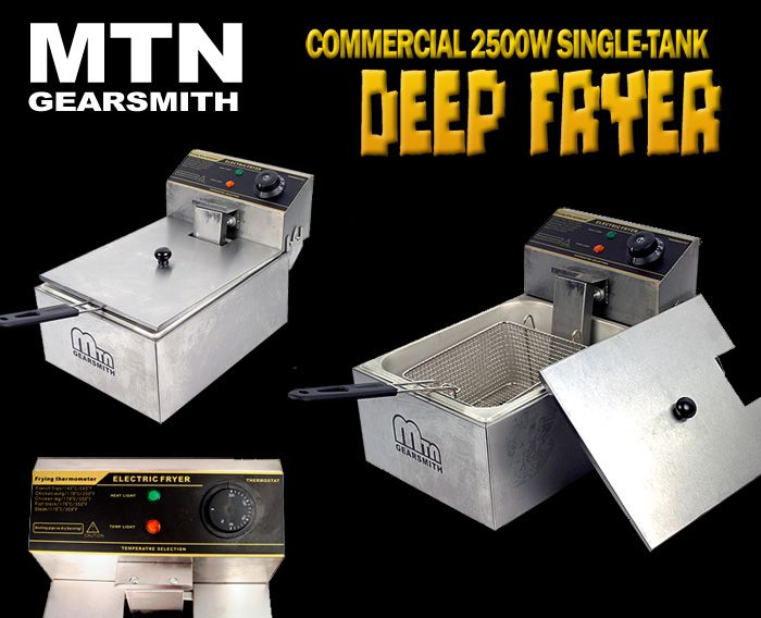 New MTN 2500W Commercial Restaurant Countertop Electric Deep Fryer 5L